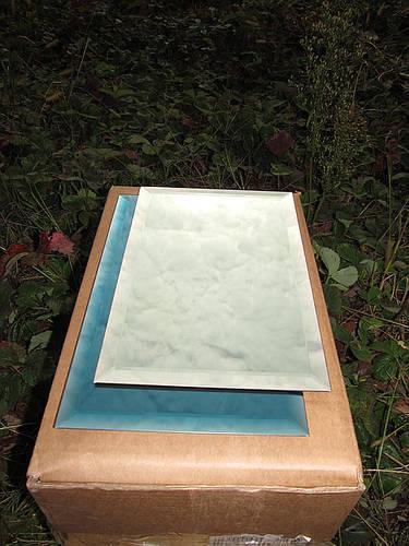 Плитка зеркальная зеленая, бронза, графит 200*500 фацет 10мм