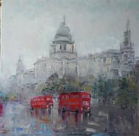 «Дождь в Лондоне» картина маслом