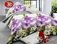 Комплект постельного белья, евро размер, ткань ранфорс, R1640, постель 3D