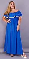 Ксения. Летнее женское платье большого размера. Индиго., фото 1