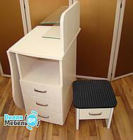 """Комплект,маникюрный стол """"Трансформер""""+подставка для педикюрной ванночки"""