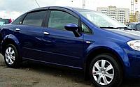 Ветровики Fiat Linea с 2007→ / комплект 4шт.