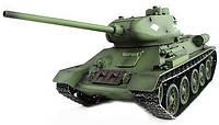 Танк на радиоуправлении с пневмопушкой и дымом Heng Long T-34 2.4GHz в металле (танки на пульте управления)