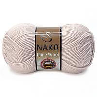 Nako Pure Wool - 3079 серо розовый