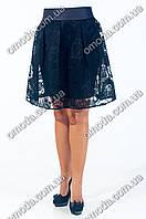 Молодежная юбка полу-солнце Валери чёрная