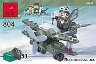 Конструктор Военный самолет 50 элементов