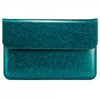 "Чехол для MacBook Air 11"" Genuine leather case blue, фото 1"