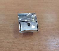 Замок для сумки застежка для портфеля защелка для сумки под ключик серебро