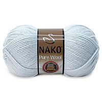 Nako Pure Wool - 10640 бледно голубой