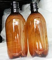 Бутылка ПЭТ 0,5 л. коричневая  с крышкой