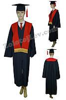 Академическая мантия с красным шарфом