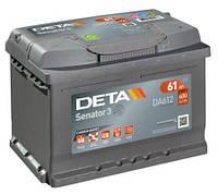 Автомобильный аккумулятор Deta Senator 3 Carbon Boost, DA612, 61Ah/600A, R+, пусковой, свинцово-кислотный