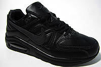 Женские кроссовки Nike Air Max, кожа, черные, Р. 36 37