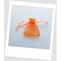 Мешочек из органзы ювелирный 7х 9 см оранж.