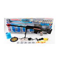 Автомат 661-3 на аккумуляторе 78 см, свет, водяные пули(гелевые), мягк.пули-присоски