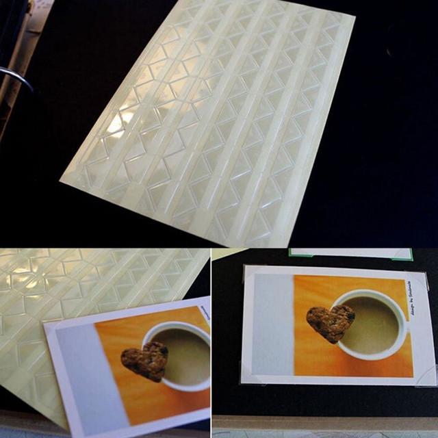 Прозрачные стикеры уголки для скрапбукинга