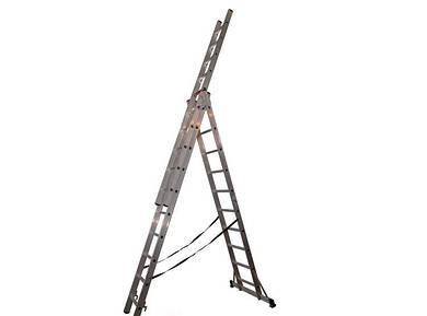 Трехсекционная алюминиевая лестница VIRASTAR 3x14 ступеней