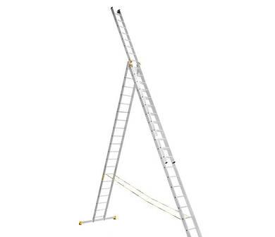 Трехсекционная профессиональная лестница VIRASTAR 3х10 ступеней