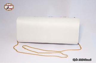 Вышитый белий клатч Колосок, фото 2