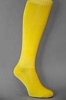 Гетры футбольные желтые однотонные