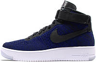 Женские кроссовки Nike Air Force 1 Ultra Flyknit Mid Blue, найк аир форс