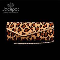 Стильний леопардовий жіночий клатч
