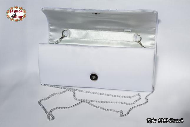Вышитый белий клатч Маковый букет, фото 2