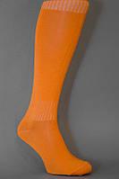 Гетры футбольные оранжевые однотонные