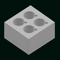 Упаковка из пенопласта для посуды