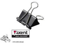 Биндер зажим для бумаги Axent 4401 19мм 12шт