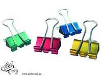 Биндер зажим для бумаги BuroMax BM.5355 19мм 12шт цветные