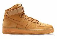 "Кроссовки Nike Air Force 1 High ""Wheat"" - ""Коричневые"" (Копия ААА+), фото 1"