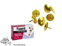 Кнопки канцелярские Axent 4202 золотые 50шт в картоне