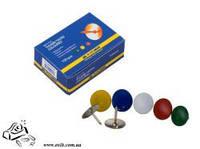 Кнопки канцелярские BuroMax ВМ.5104 цветные 100шт в картоне
