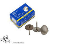 Кнопки канцелярские BuroMax ВМ.5105 никель 50шт в картоне