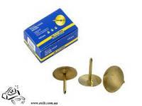 Кнопки канцелярские BuroMax ВМ.5103 золотые 100шт в картоне