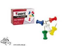 Кнопки канцелярские Axent 4203 цветные 30шт в картоне