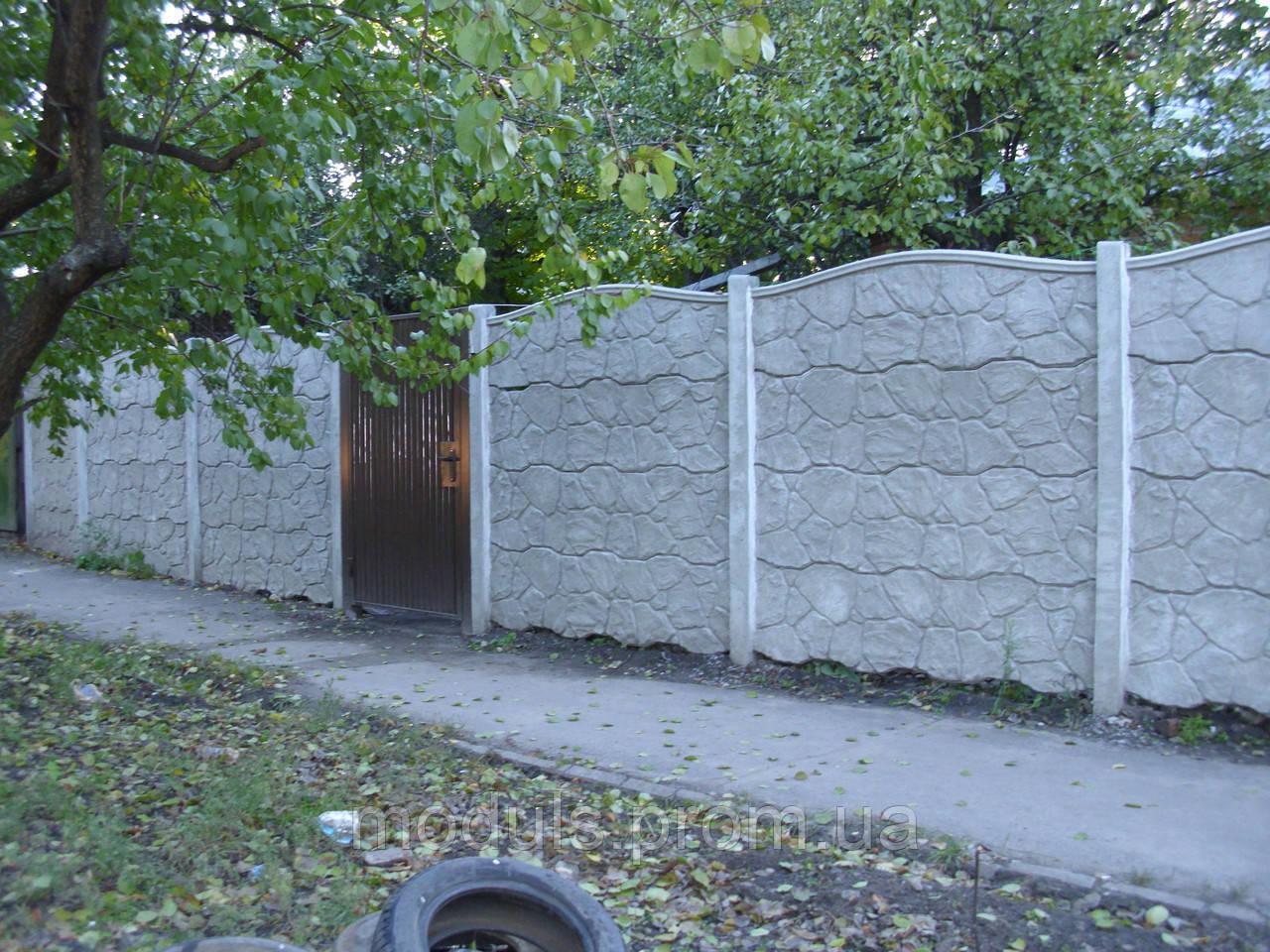"""Еврозабор ж/б """"бут зубчатый верх"""" - «Модуль» в Харькове"""