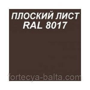 Плоский лист Коричневий RAL 8017 0.45 мм 1.25х2 м