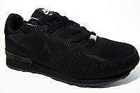 Женские кроссовки Nike, текстиль, черные, Р. 36 38