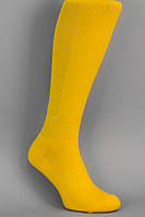 Гетры футбольные желтые однотонные (плотные)