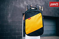 Рюкзак для города, PUNCH, черно-желтый, спортивный рюкзак, стильный, молодежный рюкзак