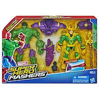 Набор 2в1 игрушка Халк и Локи (Машерс) -  Hulk vs Loki, Mashers, Avengers, Hasbro