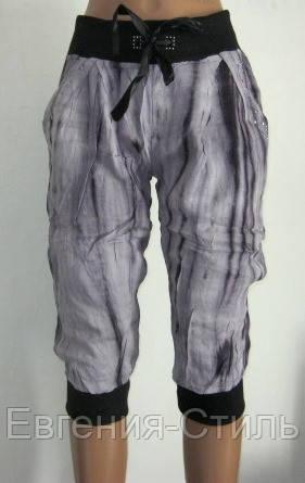 Летние женские бриджи M, L. Цвет серый