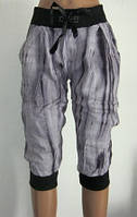 Летние женские бриджи M, L. Цвет серый, фото 1