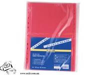 Прозорі файли BuroMax А4 100шт 40мкм червоні  ВМ.3810-05