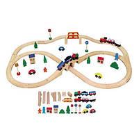 """Набор - игрушка Viga Toys """"Железная дорога"""" (49 деталей)"""