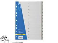 Розділювач А4 Buromax 1-12 цифровий пласт сірий  3212-09