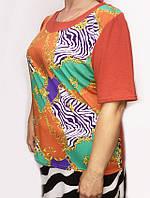Летняя женская блуза из трикотажа