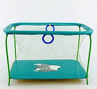 Детский игровой манеж бирюзовый Слоник